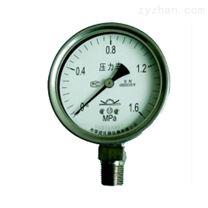 全不锈钢压力表/耐震下轴向嵌装内卡焊壳式