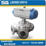氣動不銹鋼Y型三通球閥