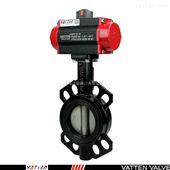 VT1ASW11A排水气动衬胶对夹蝶阀,球铁材质中线阀门