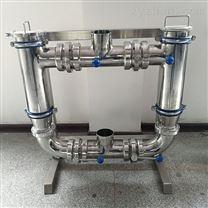 温州华强不锈钢卫生级双联过滤器