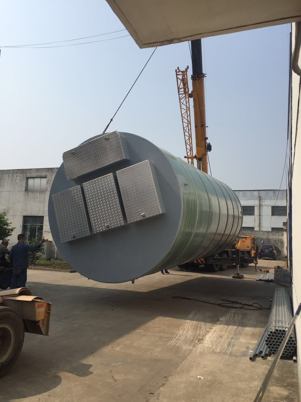 西安西城DN3*5.3一体化预制泵站玻璃钢筒体