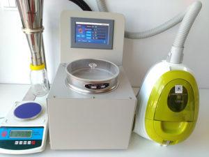空气喷射筛分法气流筛分仪的一大先进功能 – 开筛/目功能(Open Mesh)